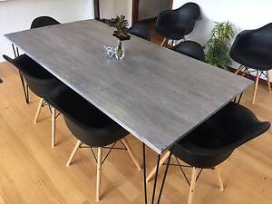 Upcycled pallet French Grey dining table 2mx1m with hairpin legs Crafers West Adelaide Hills Preview