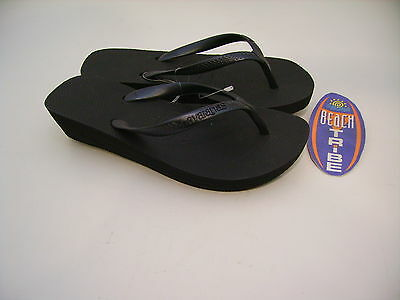 Havaianas Flip Flops Woman High Light Preto Black High Wedge