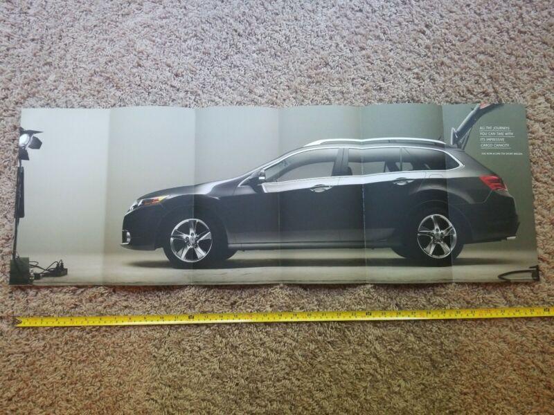 RARE Acura TSX Sport Wagon Fold out Promo Poster US Honda Accord Tourer *Look*