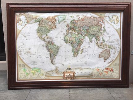World map reproduction picture frames gumtree australia world map gumiabroncs Choice Image