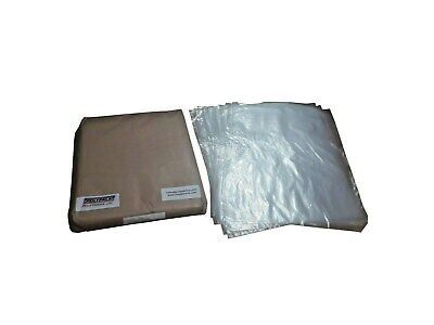 100 Small Clear Polythene Plastic Bags 12