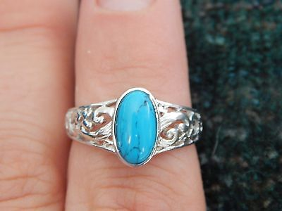 Montana Silversmiths Turquoises & Silver Ring- Size 9
