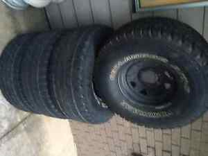 """Sunraysia rims 15x7-33"""" tyres-1 new !!6 stud Nerang Gold Coast West Preview"""