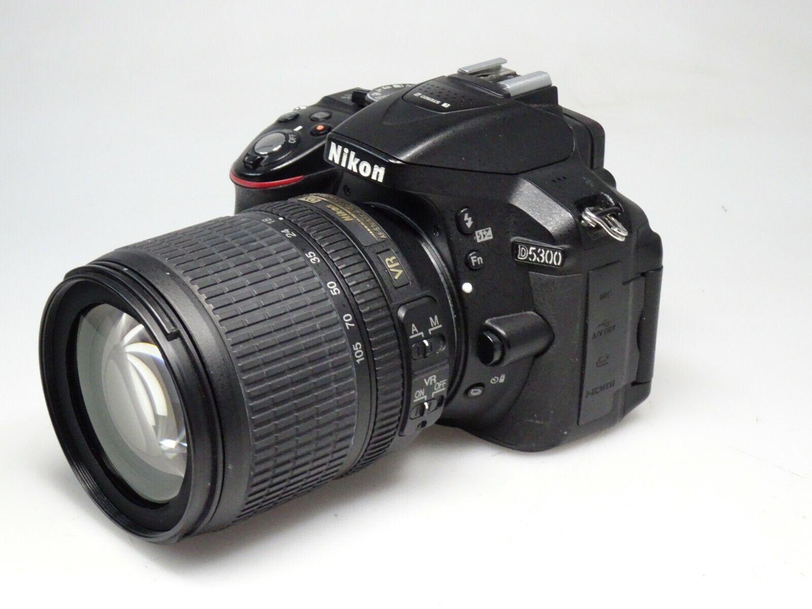 Nikon D 5300  mit Nikkor AF S 18-105 VR Digital Spiegelreflex Kamera  Kompl. Set