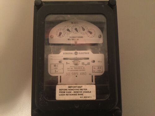 USED GENERAL ELECTRIC KILOWATTHOURS METER 700X63G3