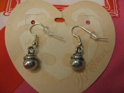 Brighton SILVER DROP CUSTOM Earrings on French Wires! NEW ~ EASY TO WEAR!