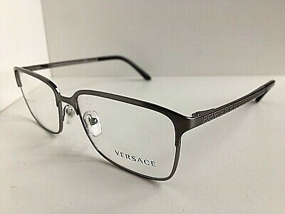 New Versace Mod. 1232 1262 Silver 54mm Men's Eyeglasses Frame Italy #8,9