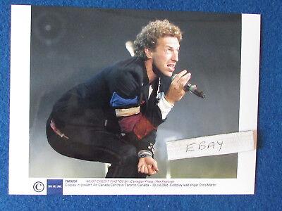 "Original Press Photo - 8""x6"" - Coldplay - Chris Martin - 2008 - L"
