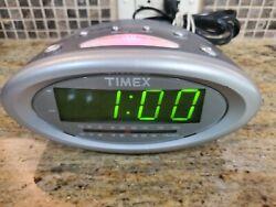 Timex T233G Nature Sounds Alarm Clock AM FM Radio - Good Condition