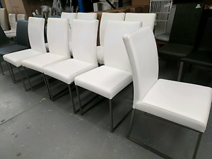 Set of 8 Leather Dining Chair 2nds - 60% off RRP Eumemmerring Casey Area Preview