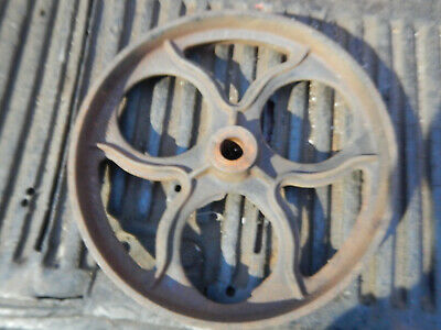 Vintage Lumber Cart Cast Iron Wheel 12h