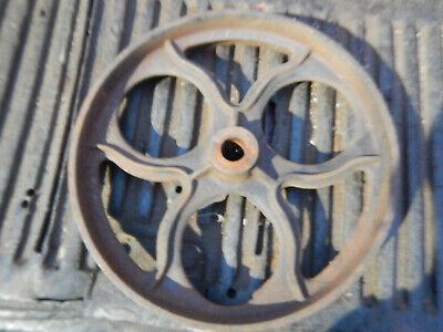 Vintage Lumber Cart Cast Iron Wheel 12h