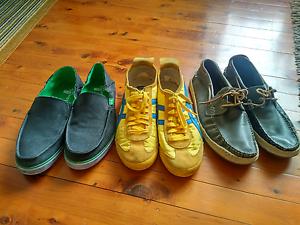 Onitsuka Tiger / Sanuk leather / Top-sider leather US Men size 10 North Sydney North Sydney Area Preview