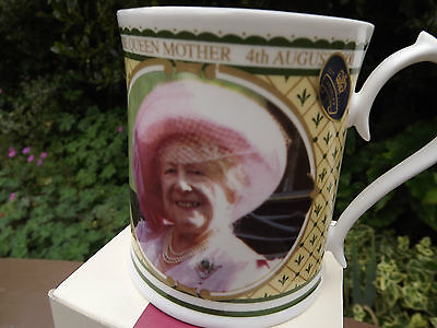 2000 Aynsley China Queen Mother 100th Birthday Portrait Mug Limited Ed with box