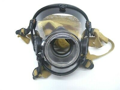 Scott 804019-02 Scba Respiratory System Full Face Mask 10009779 With Head Cover