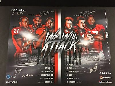 Georgia Bulldogs 2017 SEC & Rose Bowl Champions QB Autographed Poster Jake Fromm