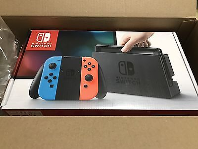 Brand New Nintendo Switch Console Neon Red & Blue Fast Free Shipping
