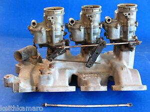 49-56 OLDS EDELBROCK TRI POWER INTAKE OL396 & HOLLEY CARBS 303-324 OLDSMOBILE