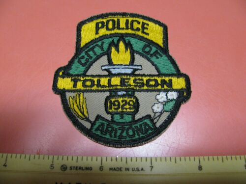 OLDER CITY OF TOLLESON ARIZONA  POLICE DEPARTMENT COLORED SHOULDER PATCH