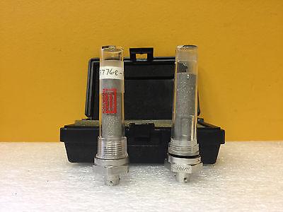 Panametrics Ge M-series Set Of 2 Aluminum Oxide Moisture Probes Case. Tested