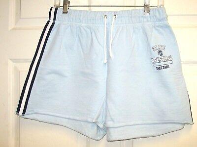 DEREK HEART Women's Light Blue Athletic Shorts Spartans State Wrestling Size xL - Heart Athletic Shorts