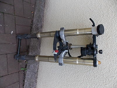 YAMAHA YZF R1 2002-2003 5PW (Ref.069)- FORKS with yokes and spindle