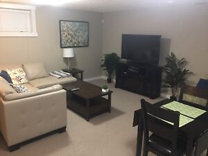 Furnished 1 bdr basement suite north Edm all utilities included