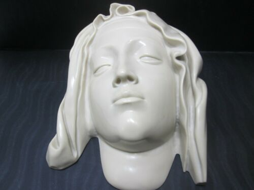 Vintage Head Of The Virgin  From The Vatican