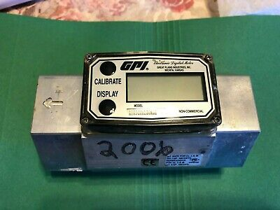 Gpi Water Flow Meter 2 Fpt Aluminum Body Tested A109gma200na2 30-300 Gpm