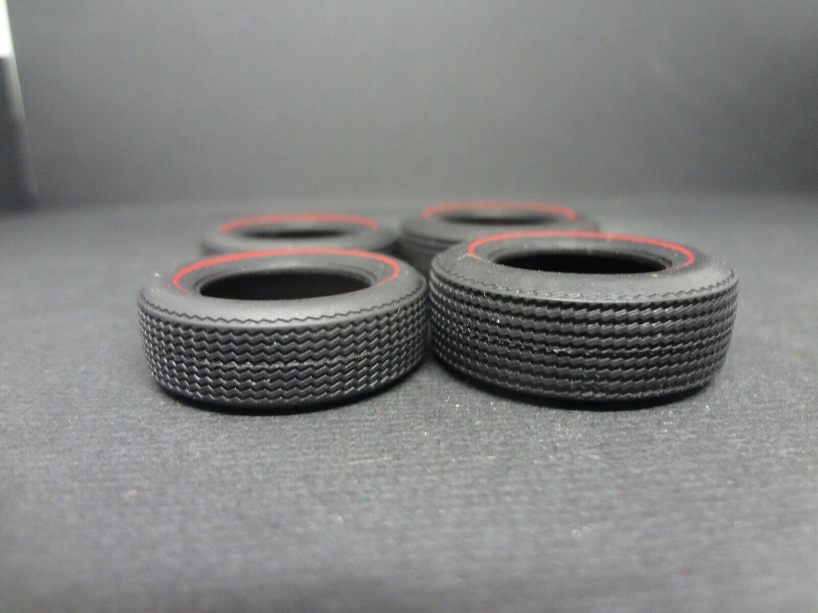 Car Parts - 1:25 scale model car parts 4x muscle car red line tires read description 4 sizes
