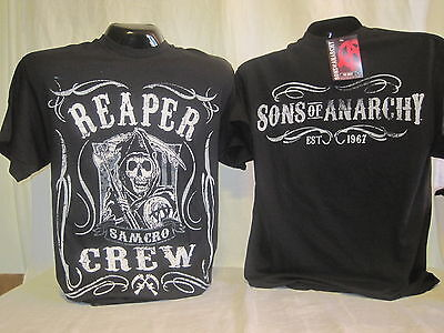 Sons Of Anarchy T Shirt Tee Reaper Crew Samcro Apparel Tv Show Soa New 494