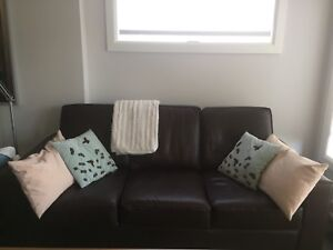 Leather sofa (brown bonded) in great condition