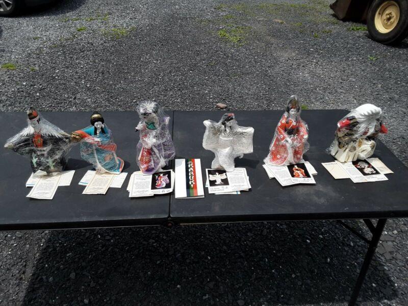 Complete set Of 6 Vintage Hamilton Collection The Art Of Kabuki