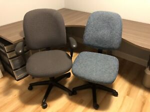 Large L-Shaped Desk (8x5 feet) and 2 Office Chairs