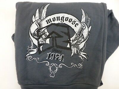 Mongoose Zip-up Sweat Shirt Jacket Gray Mens Large American Apparel Screen Print Screen-print Sweatshirt