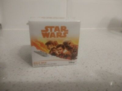 Star Wars: Han Solo Prop Replica Dice official merchandise gold dice very rare