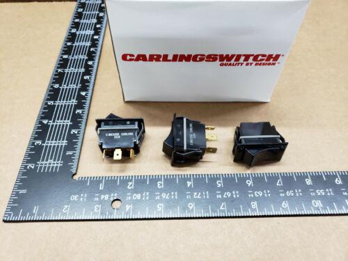 (2 pcs)TIGC51-6S-BL-MBL Carlingswitch, 15A 125vac SPDT, Full Sized Rocker Switch