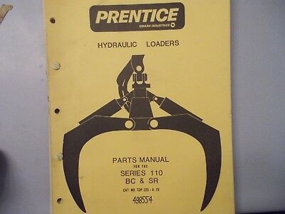 Prentice Series 110 Bc Sr 498554 Parts Manual Hydro Ax