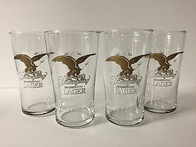 Yuengling Lager 16 oz Beer Glass ~ Set of Four (4) English Pub Glasses ~ NEW