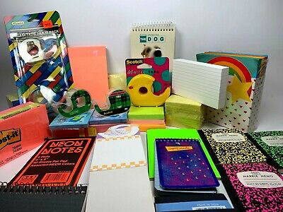 Lot Of Office Supplies Post-it Notes Pads Tape Note Pads Post Cards