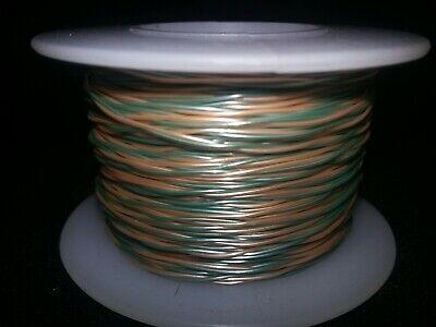 Twisted Pair 30 Awg Solid Kynar Wire Ul1422 Greenorange  100 Ft. Spool