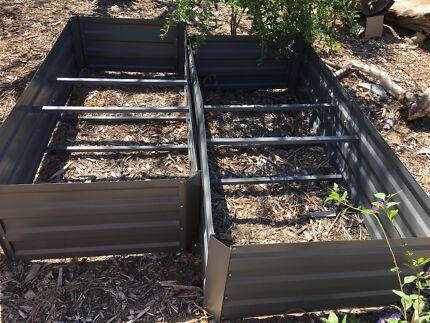 2 x Large raised garden beds