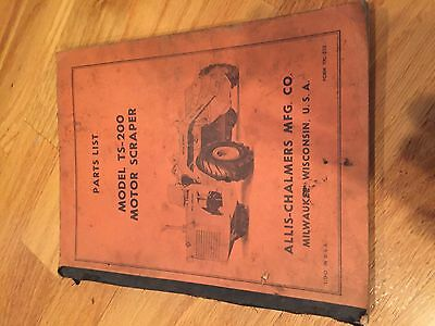 Allis-chalmers Allis Chalmers Wheel Scraper Ts 200 Parts List Catalog Manual