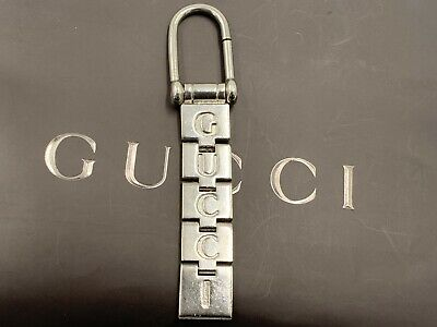 Authentic Gucci Vintage Silver Key Ring Key chain Key Holder
