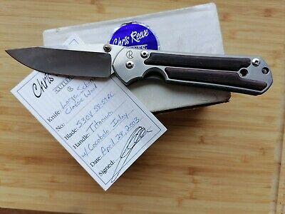 USED Chris Reeve Large Sebenza Classic Wood knife 2003
