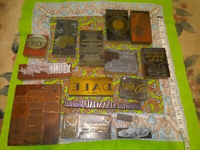 15 California Usa Antique 40s50s Letterpress Metal On Wood Printing Blocks