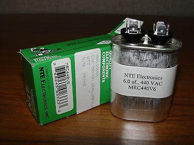 NTE Motor Run Capacitor  6uf  440Vac  MRC440V6, motor capacitor (e0020)
