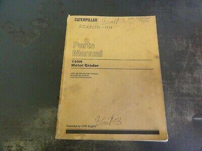 Caterpillar Cat 140h Motor Grader Parts Manual  Sebp2274-01  2zk1-up