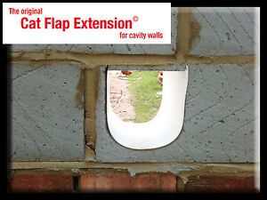 Cat Flap Extension Tunnel for thick or cavity walls