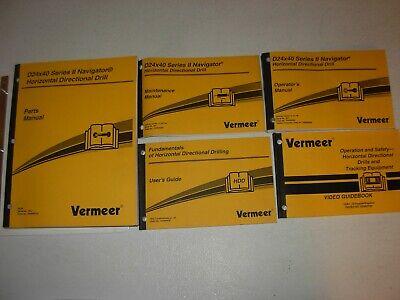 Vermeer D24x40 Series Ll Navigator Directional Drill Parts Operators Manuals